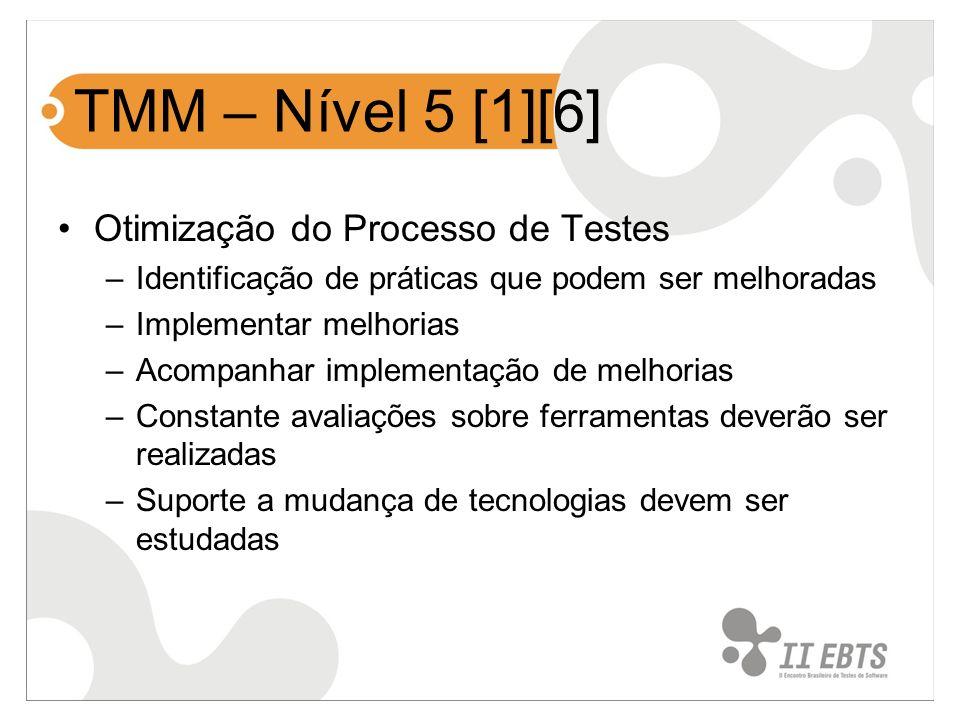 TMM – Nível 5 [1][6] Otimização do Processo de Testes
